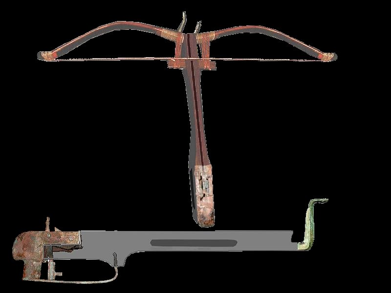 Ancient Chinese bronze crossbow mechanisms