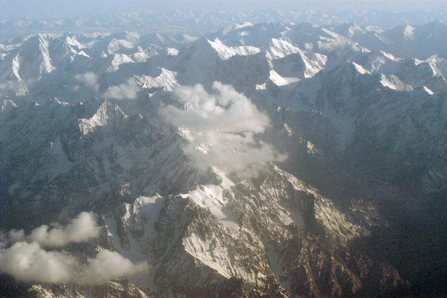 tien shan mountains. The Tian Shan Mountain seen
